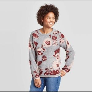 Knox Rose Pullover Floral Sweater